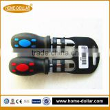 multifunctional soft rubber handle mini phillips and slotted screwdriver set
