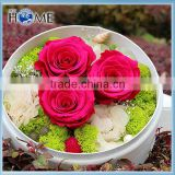 Romantic Round flower box Shaped Wedding Party Favor Boxes for Gift use paper round flower box