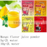 flavored drink instant juice powder,mango powder juice,strawberry flavour fruity powder drink