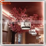 Factory price artificial pink cherry tree in wedding park plastic silk cherry plant artificial cherry