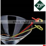 ZHUPING whosales knotted bamboo fruit pick sticks