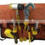 Canvas kits admission package / bag electrician suede leather bag, leather tool bag