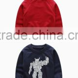 Toddler Kids printed pullover sweatshirt fleece or terry fabric long sleeve baby boys jumper for spring or autumn season