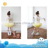 Hot new proucts for 2015 long sleeve children ballet indian baby dress designs pattern fashion children clothing set