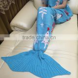 YIYU 2017 ugly christmas kids and adults knitted mermaid tail blankets