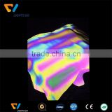 INquiry about high light durable stretched reflective printing rainbow fabric , reflective printed fabric