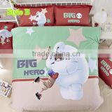 Big hero 6 bedding set 100% Cotton duvets wholesale bedding set 3d,baby bedding set