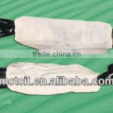 Disposable white color anti-dust/oil proof PP non-woven sleeve cover/oversleeve in kitchen