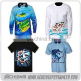 wholesale sublimation tournament fishing jerseys / wholesale fishing shirts
