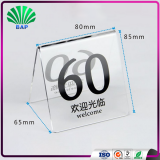 Clear Triangle Number Plate Card Stand Restaurant Number Card Holder Acrylic Number Tag
