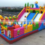 PororoThemed Amusing Kids inflatable outdoor playground rentals on sale
