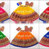 Plain Kutch Hand Embroidery Chaniya Choli - Indian Embroidered chaniya choli- Designer Navratri chaniya choli- Multicolor ChOLI