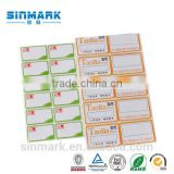 SINMARK Good Quality Customized Price Labels/Shelf label