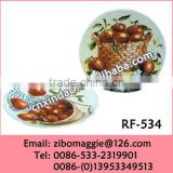 Porcelain Flat Plaite Side Plate with Custom Design for Promtoion Fruit Plate