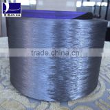bright polyester textured yarn dope dyed polyester filament yarn for use with embroidery thread