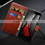Fashion luxury crazy horse leather wallet case for sony lt39h , cover case for sony z1