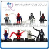 Mini Qute JR 8pcs/set Marvel Avenger Spiderman Batman super hero boys building block action figures educational toy NO.836