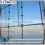 Frameless steel structure glass curtain wall
