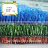 Hot sale 10mm fibrillate yarn artificial turf prices for tennis court with CE certificate