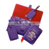 OEM LOGO!Classic travel wallet passport holder luggage tag sets