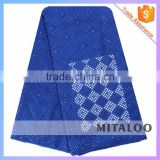 Mitaloo High Quality China 100% Swiss Cotton Voile Laces Fabric with Stones Holes MSL0403