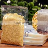 Hot sale food grade clear plastic vacuum embossed bag/ plastic preservation vacuum bag packing for rice and beans                                                                         Quality Choice