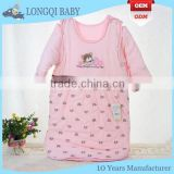 BB-LZ-002 hot sale newborn baby sleeping bag 100% cotton