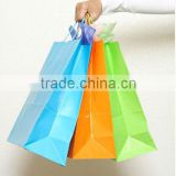 Best quality promotional paper bags shopping with ribbon handles