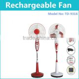 Durable 12V DC Solar Fan Electrical Rechargeable Emergency Standing Fan With Copper Motor