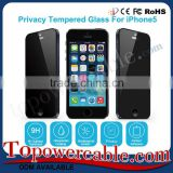 China Supplier Privacy Tempered Glass Cell Phone Touch Screen guard Protector For iPhone 5