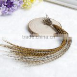 Hot Selling Feather Hair Cut Cheap feather hair extension real rooster natural color hair feather