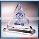 beautiful transparent triangle acrylic paper weight