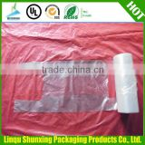 HDPE 100% virgin material transparent t-shirt bags on roll plastic t-shirt bags vest bag