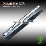 42mm telescopic rails for drawers slide railing track telescopic/3-fold rail parts ,full extension ball bearing drawer slide