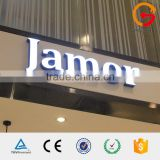 Storefront decorative led frontlit 3d led light box channle alphabet letters