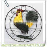 KZ160157 Hot Selling Home Decorative Colorful Metal Cock Wall Art Plaque                                                                         Quality Choice