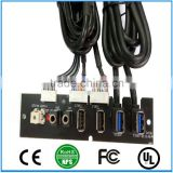 Front Panel Cable Dual USB3.0+Dual USB2.0+LED Switch+HD AUDIO I/O PC Board CableFor Computer With Cable