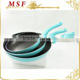 MSF-6234 hot sell classic style fry pan pressing aluminum nonstick coating fry pan set colorful painting