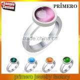 Factory price Stainless steel white gold opal ring finger fashion party Top quality wedding jewelry
