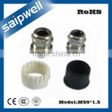 SAIPWELL M50*1.5 UL M Type Electrical Brass Plating Nickel Waterproof Metal Cable Gland Leading Manufacturer