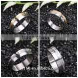 Online Shop China 316l Stainless Steel Jewelry Type Gypsy Setting Newest Design Couple Rings for Men
