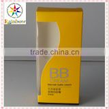 Wholesales Luxury and fashionable sun cream packaging paper boxes with PVC window supplier in China