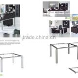 MDF Chinese new design black office desk furniture material