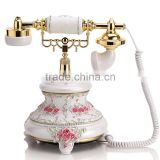 Rotating disk antique European retro home telephone pastoral creative wired telephone Alice