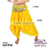 yellow belly dance harem pants,chiffon costume for belly dancing,belly dance wear,belly dance clothes,belly dancing clothes