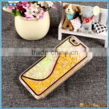 Best-selling phone case for iPhone 6, S style liquid glitter bling case for iphone 6 Plus 6s