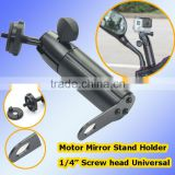 "Universal Metal Material 1/4"" screw head Scooter Mount for Digital Camera Car DVR Mobile Phone Motorcycle Mirror Stand Holder"
