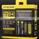 New stock Nitecore D4 Lcd Battery Charger Universal Smart Intelligent Digital 2.0 Fit LI-ion NiCd NiMh charger