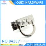 Shiny NIckel Plating Turn Lock For Leather Bag Front Part Lock Metal Bag Buckle