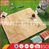 Stripe pattern normal size logo customized picnic blanket
